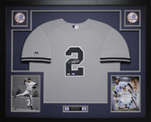 Derek Jeter Autographed and Framed Gray New York Yankees Jersey Steiner Certified