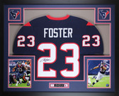 Arian Foster Autographed and Framed Blue Houston Texans Jersey Auto JSA certified