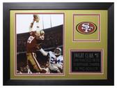 Dwight Clark Framed 8x10 San Francisco 49ers Photo (DC-P1B)