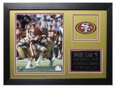 Dwight Clark Framed 8x10 San Francisco 49ers Photo (DC-P2B)