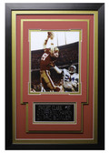 Dwight Clark Framed 8x10 San Francisco 49ers Photo with Nameplate (DC-P1C)