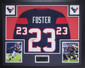 Arian Foster Autographed and Framed Blue Houston Texans Jersey JSA COA