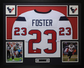Arian Foster Autographed and Framed White Houston Texans Jersey JSA COA