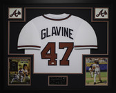 Tom Glavine Autographed and Framed White Atlanta Braves Jersey Auto JSA COA