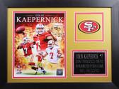 Colin Kaepernick Framed 8x10 San Francisco 49ers Photo (CK-P1B)