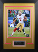 Colin Kaepernick Framed 8x10 San Francisco 49ers Photo with Nameplate (CK-P2D)
