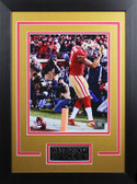 Colin Kaepernick Framed 8x10 San Francisco 49ers Photo with Nameplate (CK-P5D)