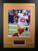 Frank Gore Framed 8x10 San Francisco 49ers Photo with Nameplate (FG-P1D)