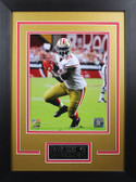 Frank Gore Framed 8x10 San Francisco 49ers Photo with Nameplate (FG-P3D)
