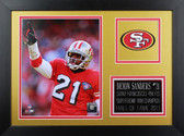 Deion Sanders Framed 8x10 San Francisco 49ers Photo (DS-P2B)