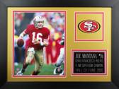 Joe Montana Framed 8x10 San Francisco 49ers Photo (JM-P1B)