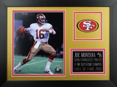 Joe Montana Framed 8x10 San Francisco 49ers Photo (JM-P2B)