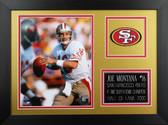 Joe Montana Framed 8x10 San Francisco 49ers Photo (JM-P3B)