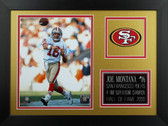 Joe Montana Framed 8x10 San Francisco 49ers Photo (JM-P4B)