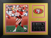 Joe Montana Framed 8x10 San Francisco 49ers Photo (JM-P5B)
