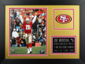 Joe Montana Framed 8x10 San Francisco 49ers Photo (JM-P6B)