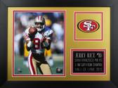 Jerry Rice Framed 8x10 San Francisco 49ers Photo (JR-P2B)