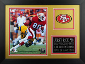 Jerry Rice Framed 8x10 San Francisco 49ers Photo (JR-P4B)