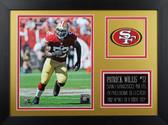 Patrick Willis Framed 8x10 San Francisco 49ers Photo (PW-P2B)