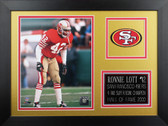 Ronnie Lott Framed 8x10 San Francisco 49ers Photo (RL-P2B)