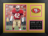 Ronnie Lott Framed 8x10 San Francisco 49ers Photo (RL-P3B)