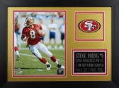Steve Young Framed 8x10 San Francisco 49ers Photo (SY-P3B)