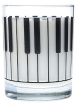 Clear Glass Tumbler - Keyboard