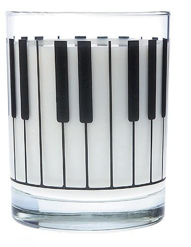 Clear Glass Tumbler - Keyboard