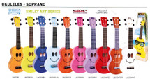 Mahalo U Smile Soprano Ukulele - Assorted Colours