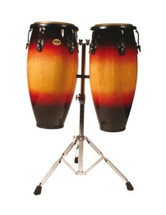 "Mano 10""&11"" Conga Set on Stand - Sunburst or Natural"