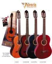 Valencia 200 Series Full Size Classical Guitar - Assorted Colours