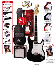 SX Electric Guitar & 10 W Amp Package - Assorted Colours
