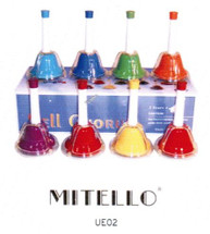 Mitello - 8 Note Tuned Press Bell Set - C1 to C8