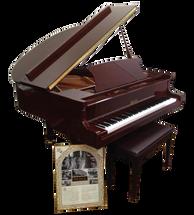 BEALE GP148 Baby Grand Acoustic Piano - Brown Mahogany
