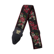 ERNIE BALL Classic Jacquard Strap - Red Rose