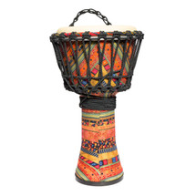 "Drumfire 8"" Synthetic Head Rope Djembe (Multicolour) in bag"