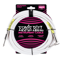 Ernie Ball Classic 20ft Guitar Cable - Black or White