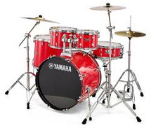 Yamaha Rydeen 5pc Fusion Drum Kit - Hot Red with FREE DS550 STOOL!