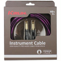 KIRLIN WAVE 10ft Braided Instrument in gift box - pink/purple/black/red/gold