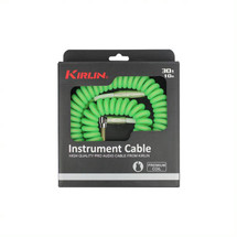KIRLIN 30FT CURLY CABLE - Purple/Green