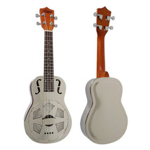 Aiersi Resonator Concert Ukulele in case