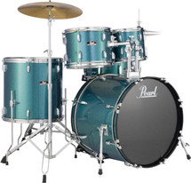 "Pearl Roadshow Series 22"" Rock Drum Kit Package  5 piece includes cymbals and throne"
