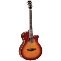 Tanglewood Winterleaf TW4SB Winterleaf Super Folk Acoustic/Electric Guitar - Sunburst + GIG CASE