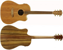 Cole Clark Fat Lady 2 with Cutaway Acoustic/Electric Guitar in Hard case Blackwood/Blackwood