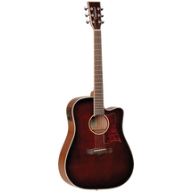 Tangelwood TW5 Winterleaf Series Dreadnought Acoustic/Electric Guitar in Whiskey Barrel Burst
