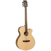 Tanglewood Discovery SuperFolk Acoustic/Electric Guitar in Pacific Walnut