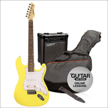 Ashton SPAG232 Electric Guitar and Amp Package - Yellow/Black/Blue/Red/Sunburst