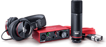 Focusrite Scarlett Solo Studio Pack Third Gen with Condenser Mic and Headphones
