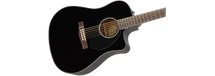 Fender CD60SCE Acoustic/Electric Guitar - Black Gloss
