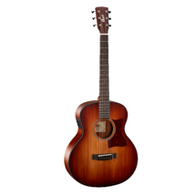 CORT Little CJ Blackwood 3/4 Size Jumbo Open Pore Lightburst Acoustic/Electric GUitar in Gig Bag